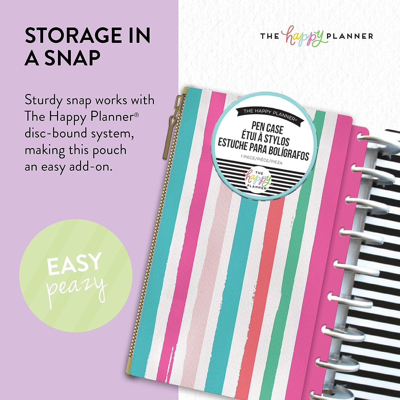MAMBI The Happy Planner Pencil Case Striped B /& W Storage