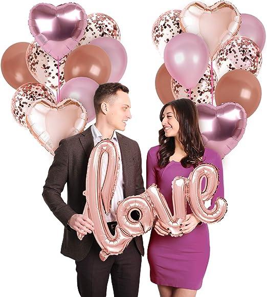 "Creative Party Foil Heart Balloon 18/"" Engagement//Anniversary//Wedding//Helium//Love"