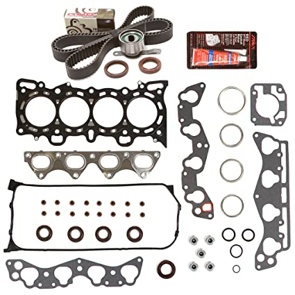 Evergreen HSTBK4029 Head Gasket Set Timing Belt Kit 96-00 Honda Del Sol  Civic 1 6 D16Y5 D16Y7 D16Y8