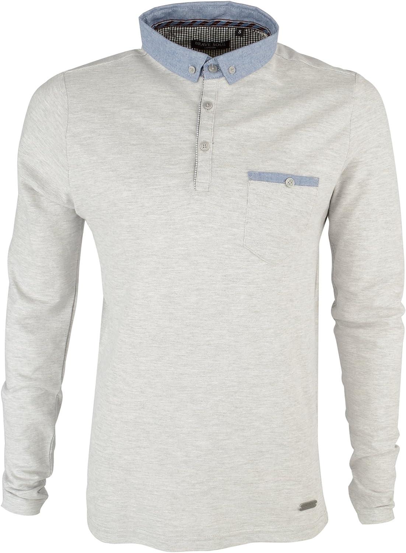 Camiseta polo Brave Soul para hombre Gris Sport Marl (Grey) Large ...