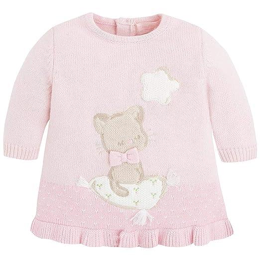 1a1c67392 Amazon.com  Baby Girls 0-12M Angora Blend Kitty Cat Intarsia Long ...