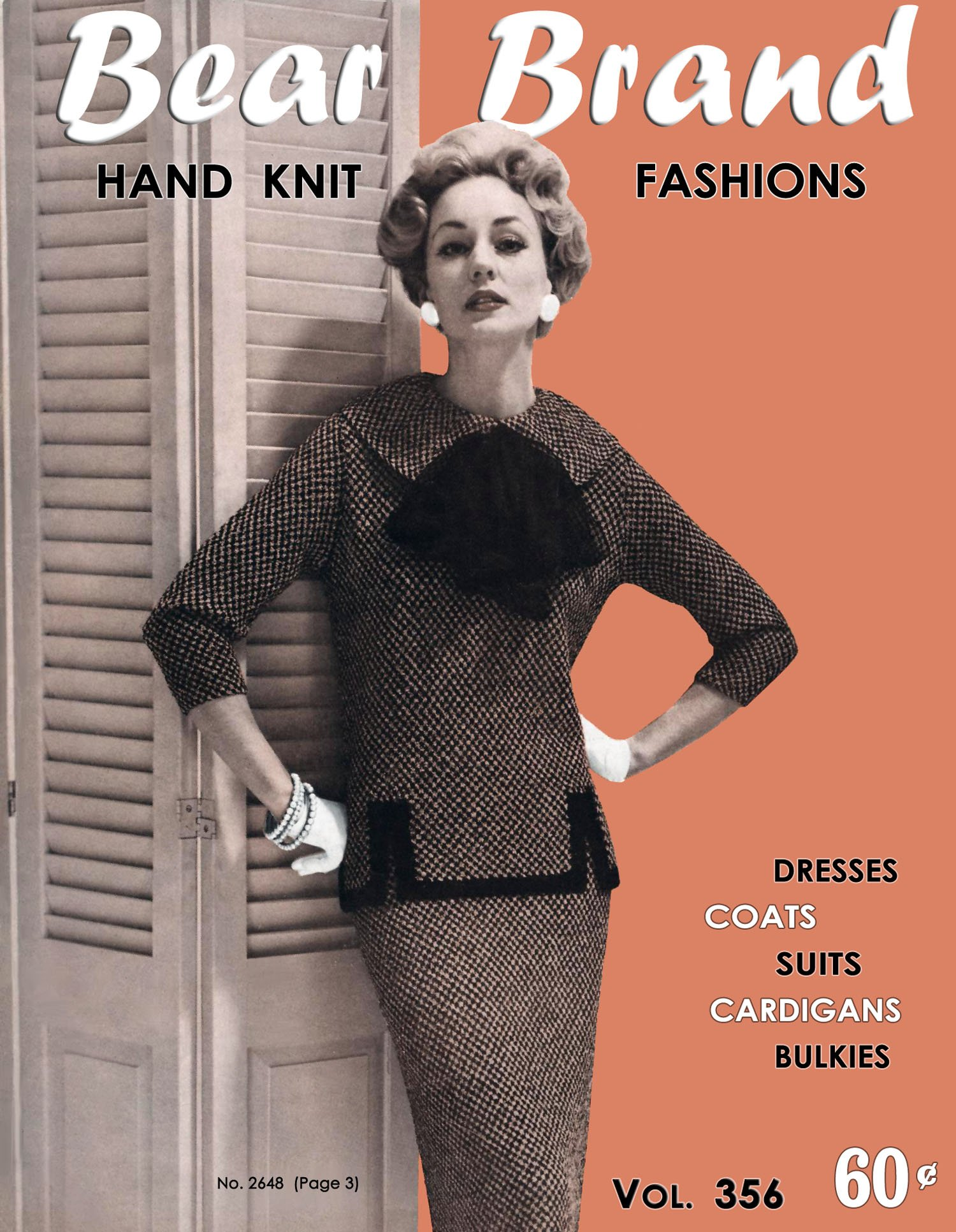 Download Bear Brand #356 c.1958 - Hand Knit Fashions, Sweaters, Dresses, Coats & More - 1950's Era Knitting Patterns pdf epub