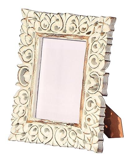 Amazon Shabby Chic Photo Frame Hand Carved White Washed