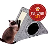 Cat Scratching Board Pad, Triangle Claw Pad Corrugated CardboardCat House Toy