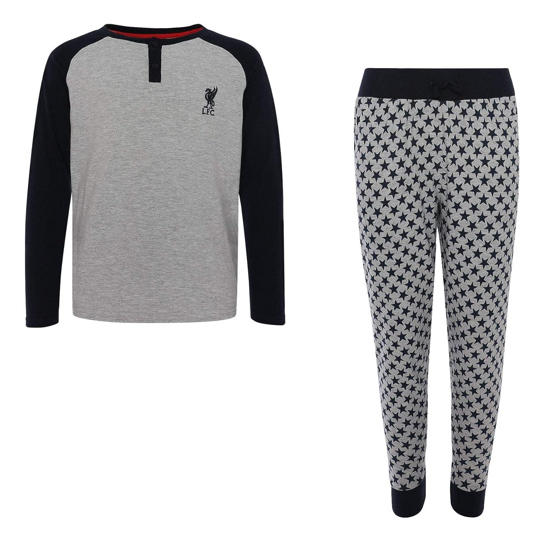 Liverpool FC Grey Marl//Navy Boys Football Pijamas Set AW 18//19 LFC Official