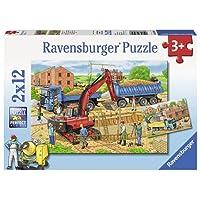 Ravensburger Busy Construction Site 2x12pc Puzzle,Children's Puzzles