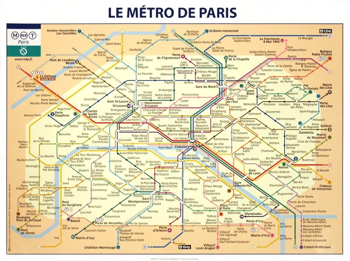 Amazon.com: Rare Posters RATP-Le Metro De Paris-Poster: Posters & Prints