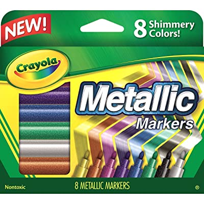 2 PACK Crayola Metallic Markers, 8 Count
