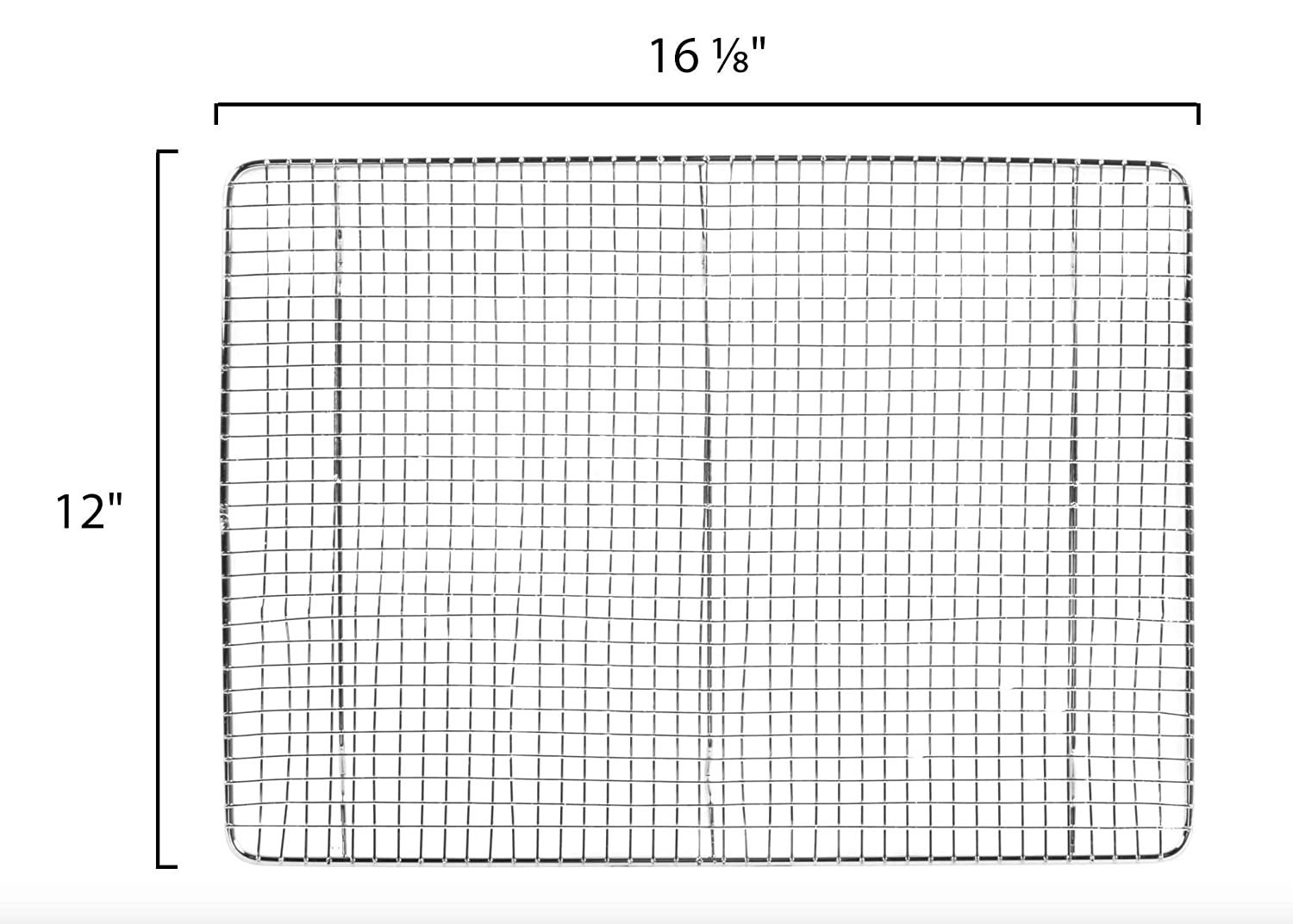 Professional Stainless Steel Wire Cross Cooling Rack Half Sheet Pan Grate 16 1//2 x 12 Drip Screen Set of 2 Heavy Duty Commercial Quality