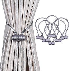 OLRIKE 6 Pack Magnetic Curtain Tiebacks, 19