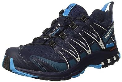 Salomon Men's XA Pro 3D GTX Trail Running Shoes, Blue, Synthetic/Textile