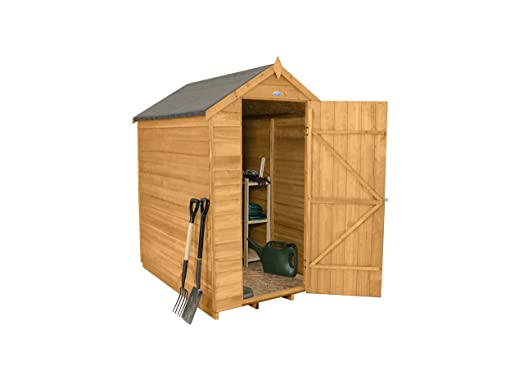 forest garden 6x4 apex security overlap garden shed dip treated