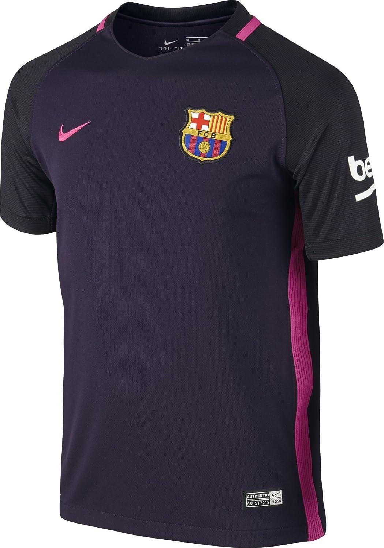 NIKE FC Barcelona YTH SS AW Stadium JSY Camiseta de Manga Corta Hombre