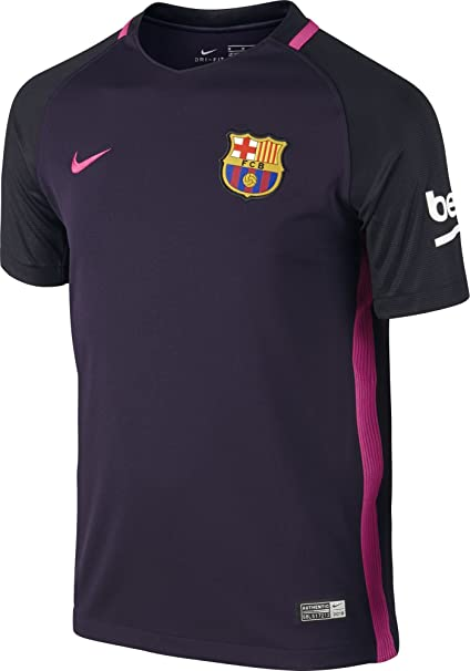 Amazon.com   Nike Youth FC Barcelona Away Soccer Stadium Jersey 2016 ... 579df4f009d3