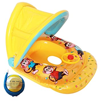 Flotador hinchable para bebés, de Raintwo; flotador con dibujos de ...