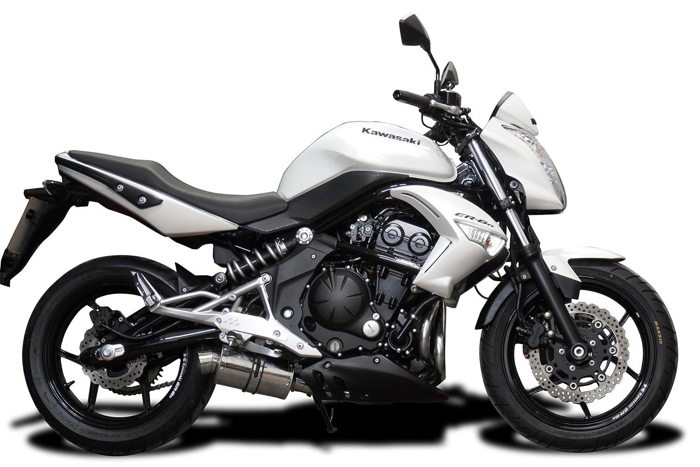 """Kawasaki Ninja 650 SS70 9"""" Stainless Steel Oval Muffler Exhaust Slip On 09 10 11"""