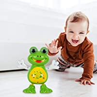 Kurtzy Dancing Frog Toy with LED Light Musical Sound for Baby Children Kids Certified by Bureau of Indian Standards