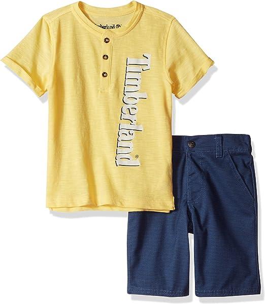 Timberland Boys 2 Pieces Tee Shirt Shorts Set