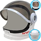 Astronaut Helmet with Movable Visor Pretend Play Toy Set for School Classroom Dress Up, Role Play Accessory, Stocking, Birthd