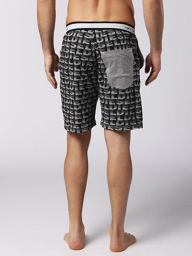 Diesel Hombre Pantalones Cortos de Pijama de Tom, Negro: Amazon.es: Ropa y accesorios