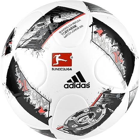 adidas DFL Junior350 Balón de Fútbol, Hombre, (Blanco/Negro/Rojsol ...