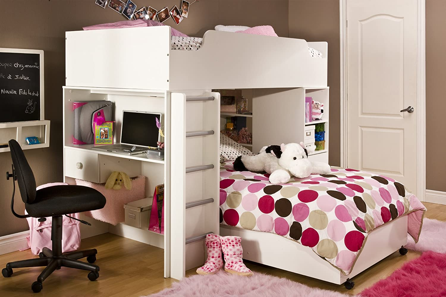 Complete Loft Bed, Logik/Sand Castle Collection, Pure White