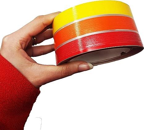 Stripe Linea di Galleggiamento Nautica Adesiva Sfumature Rosso 50 mm x 10 mt