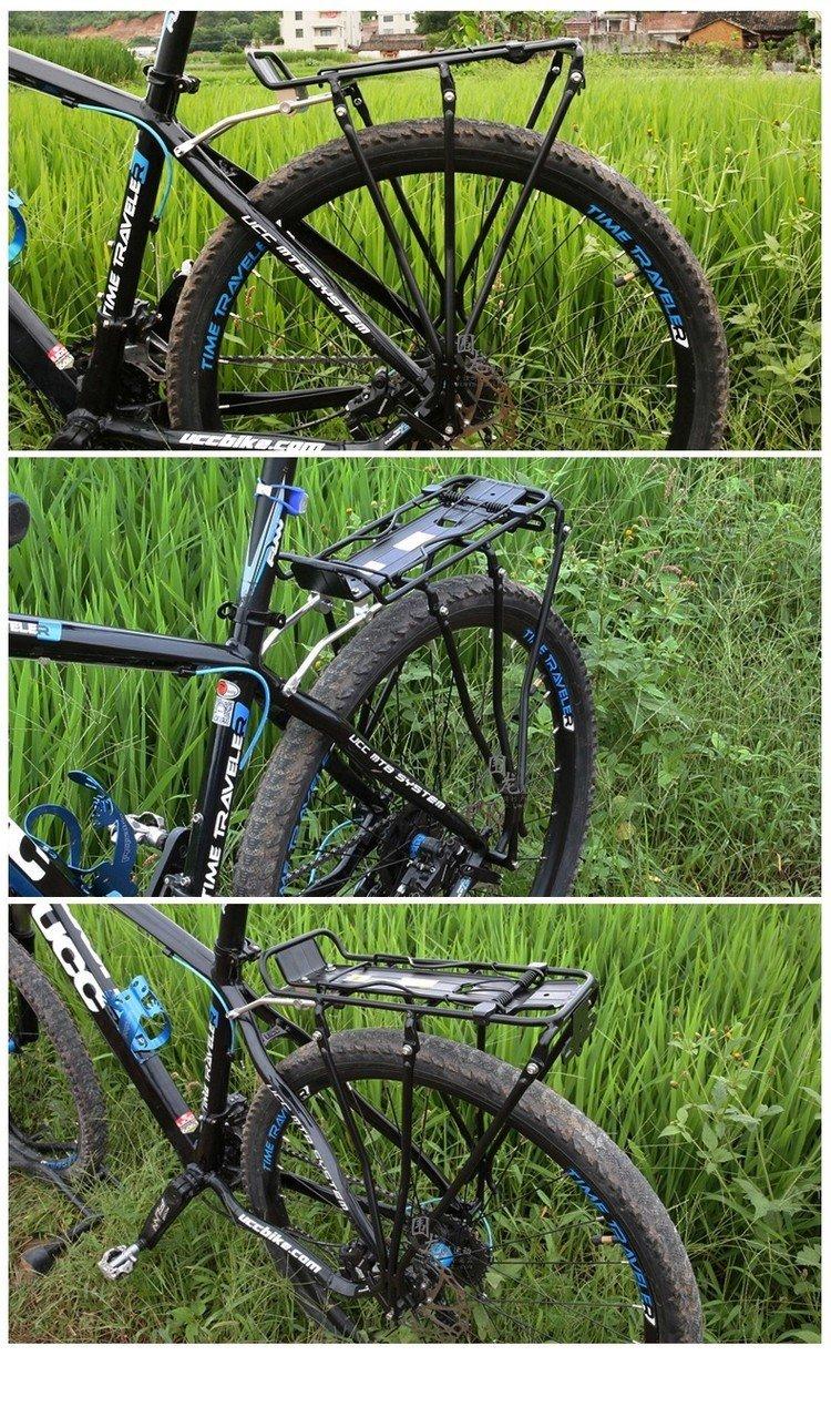 1x Aluminum Alloy MTB Bike Bicycle Rack Carrier 25kg Loading Rear Luggage Cycling Shelf Bracket for V-brake Bike