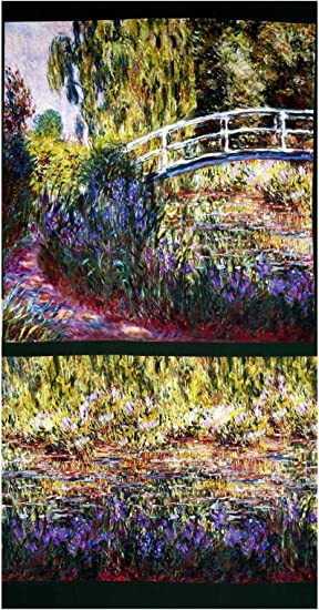 25 patchwork quilting For sewing quilt panels Claude Monet Fabric panels fabric panel Monet fabric fabric panels for quilting