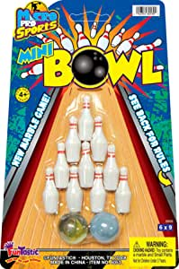 Miniatura 10 Pin Bowling Set Indoor//Table Top//sconfiggere la noia NUOVO