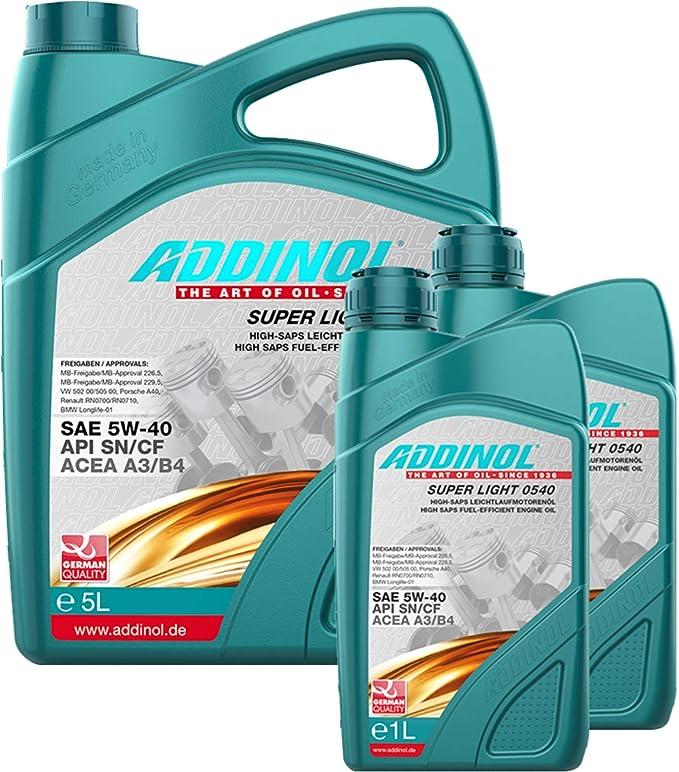 Addinol Engine Oil 5w 40 Super Light 0540 5l 2 X 1l Auto