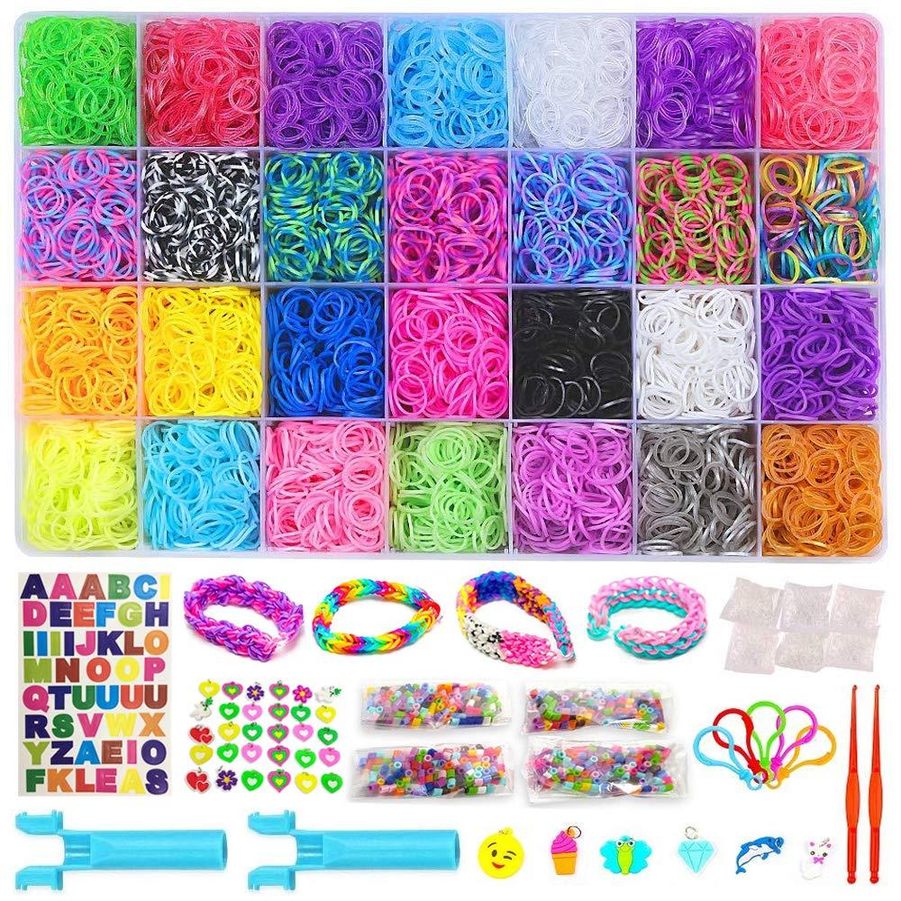 Amazoncom 11750 Rainbow Rubber Bands Refill Kit 11 000 Loom