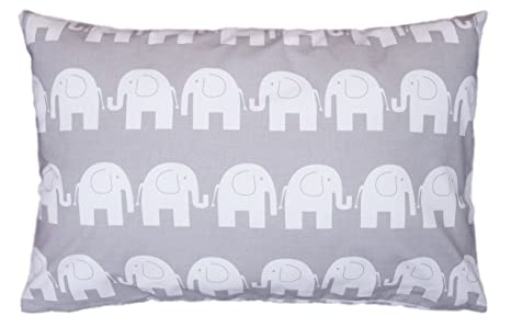 AMI Lian® - Cojín Almohada Cojín 40 cm x 60 cm Elefante gris ...