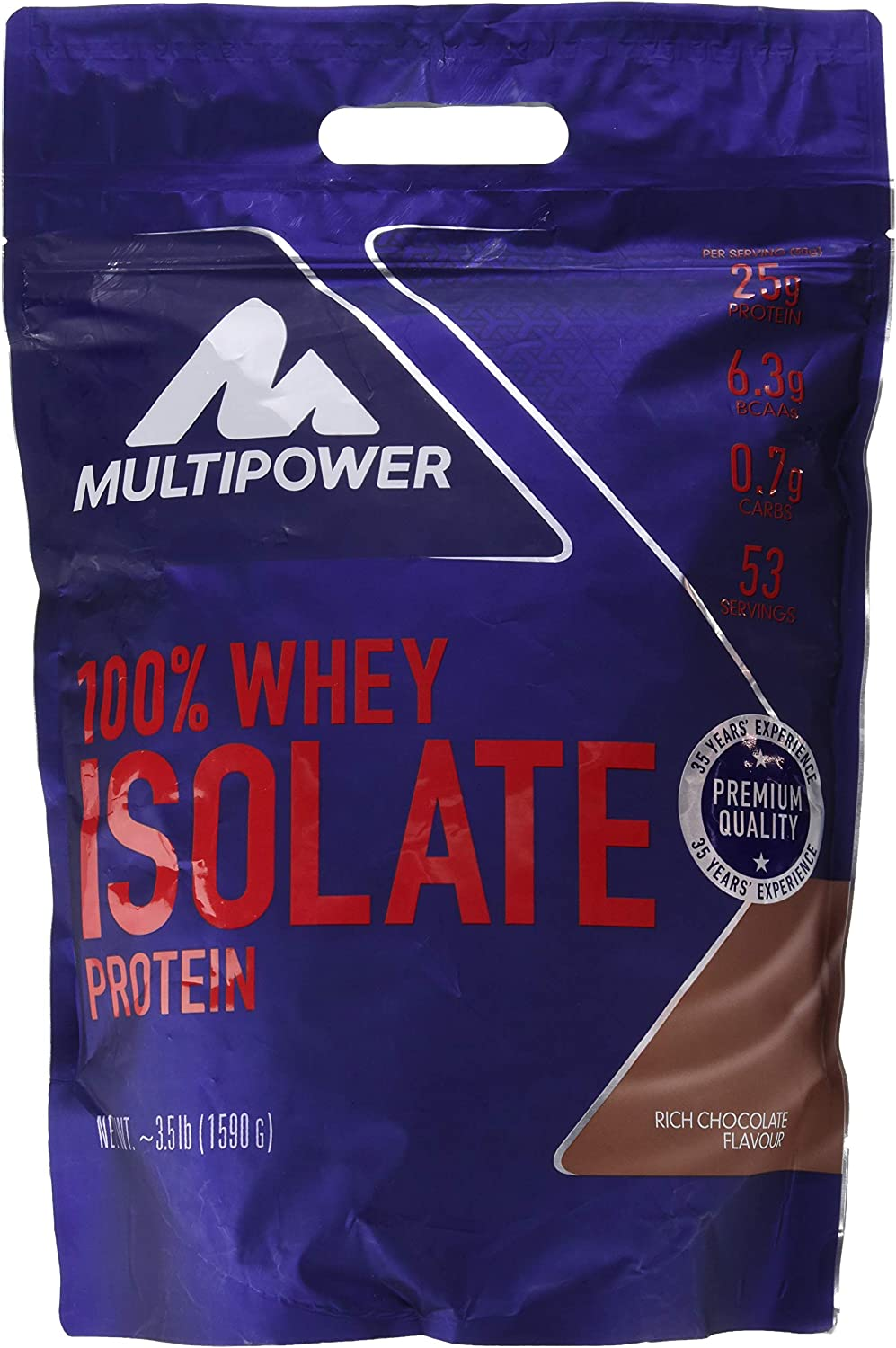 Multipower 100% Whey Isolate, Sabor Rich Chocolate - 1590 gr