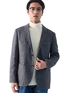 Mallalieus Tweed Jacket 3222-199-0305: Grey Herringbone