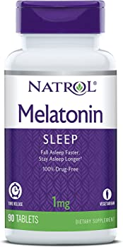 90-Count 1mg Natrol Melatonin Time Release Tablets