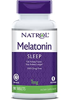 Natrol Melatonin Time Release Tablets, 1mg, 90 Count
