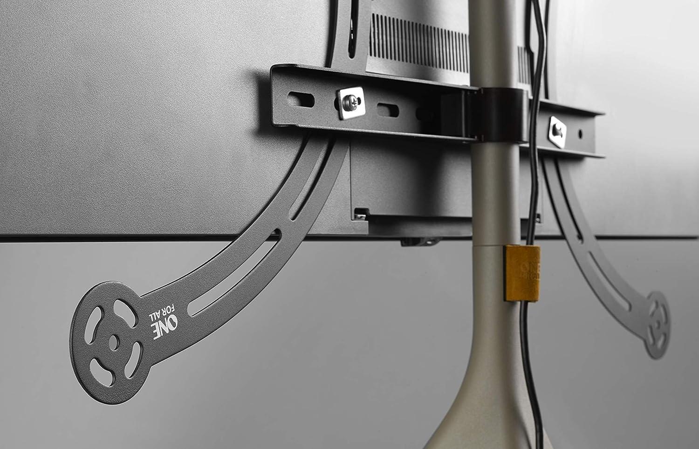 Pivotement /à 360/° et Hauteur r/églable T/él/éviseurs LCD//LED//Plasma//OLED//QLED Support TV Universel avec tr/épied One For All VESA 400x400 WM7471 /Écrans mesurant Entre 32 et 65 Pouces