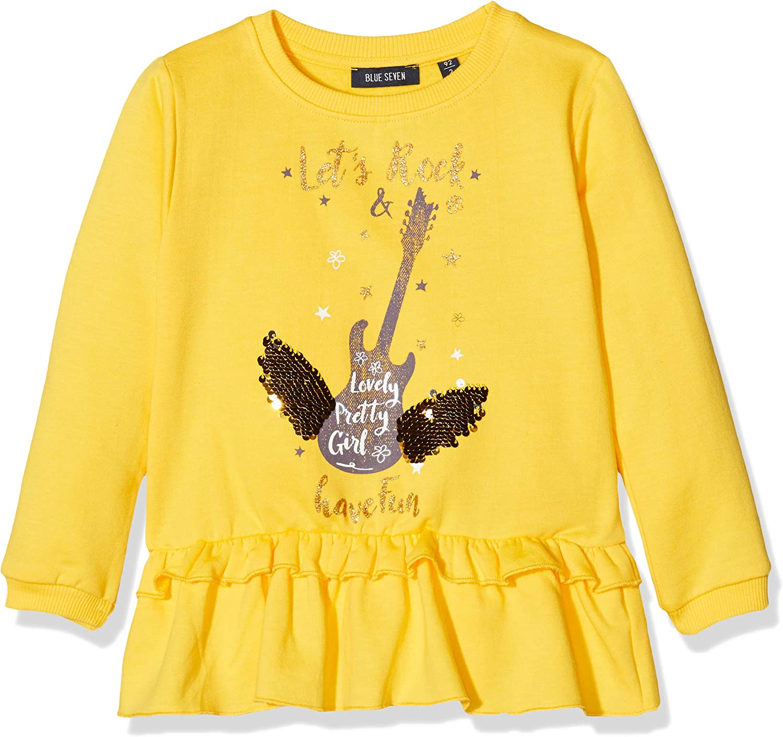 Blue Seven M/ädchen Front-Print und R/üschen Sweatshirt