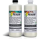 16.9 OZ (0.5 Litre Kit) Krystal Resin | Crystal Clear Epoxy Resin Kit | Non-Toxic, Odor Free | High Gloss Thick Clear Coat |