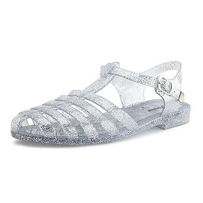 40bcb38c0985f Generation19 Women s Soft Retro Jelly Buckle Closure Sandals Womens Clear 5  get new 4cc38 bdd52 ...