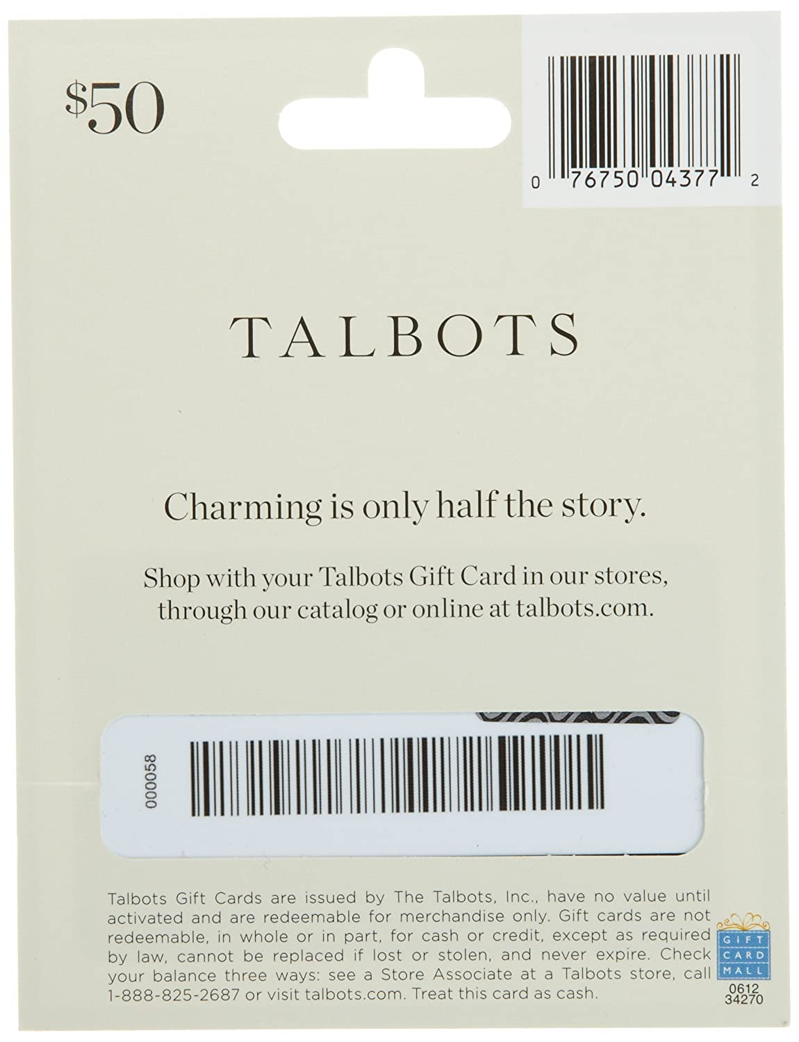 Amazon Talbots Gift Card 25 Gift Cards