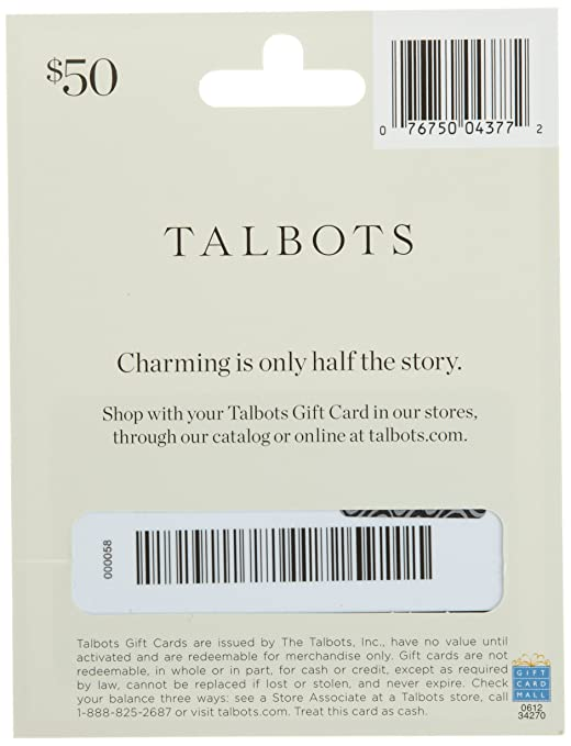 Amazon.com: Talbots Gift Card $25: Gift Cards