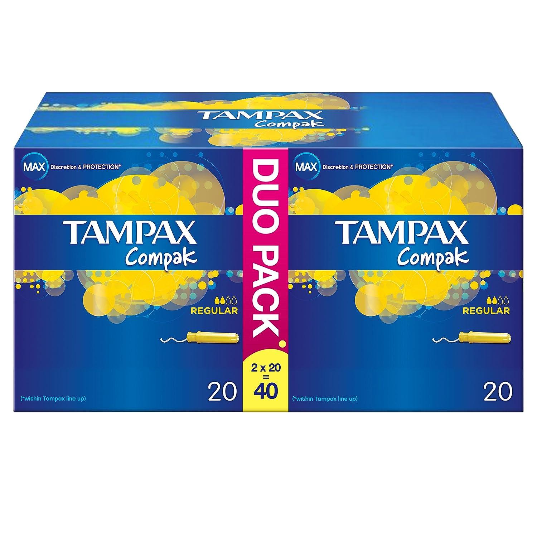 Tampax Compak Regular Aplicador tampones - Paquete de 40: Amazon.es: Salud y cuidado personal