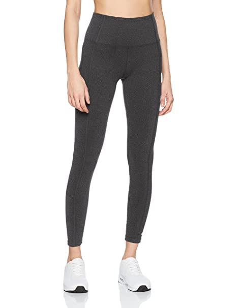 66cd95d4fef893 Buy Marika Women's Olivia High Rise Tummy Control Legging, Heather Black,  Large Online at Low Prices in India - Amazon.in