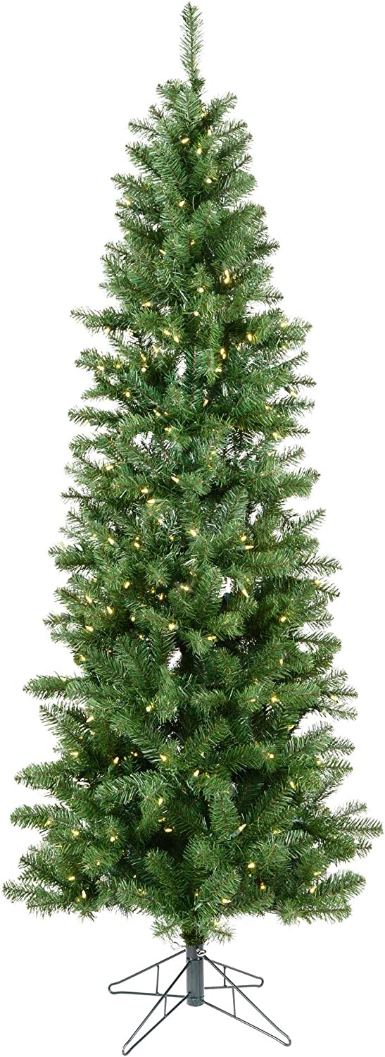 Vickerman 4.5-feet Salem Pencil Pine Artificial Christmas Tree with 150 Warm White LED lights
