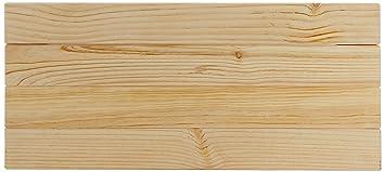 Lufe Testa 4 Cabecero de Pared, Madera, Pulido, 100x4x44 cm