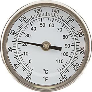 3 Dial Display 70-320 Deg F//C 0-250psi//kpa /Â/±3-2-3/% Accuracy Winters TTD Series Steel Dual Scale Tridicator Thermometer with 2 Stem 1//2 NPT Bottom Mount