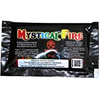 MYSTICAL Lot de 3sachets de poudre à jeter sur un feu pour flammes colorées.