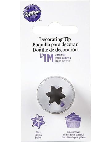 Wilton # 1M Boquilla para decoración, diseño de Estrella Abierta, Acero Inoxidable, centimeters